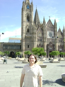 A beautiful church in Guadalajara.  Don\'t mind the bloke in the foreground.