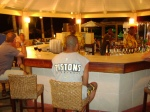 The bar at the Halcyon Cove Resort Hotel