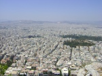 The view from atop Lykavitos Hill in Athens.