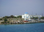 A church on the approach into Antiparos harbor.